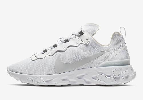06a566c05d0ec Nike React Element 55 Releasing In All-White Colorway