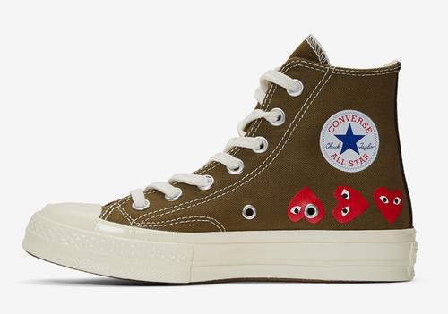 dcca03ccfdbc Comme Des Garcons X Converse Chuck 70 Dropping In Khaki Colorway ...
