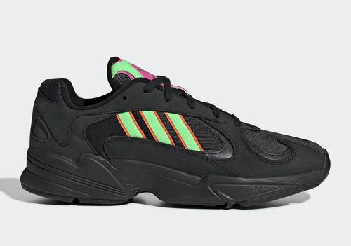 sports shoes 819e6 02bf1 Adidas Yung-1 Reinvigorates Dad Shoe Wave With Black & Neon ...