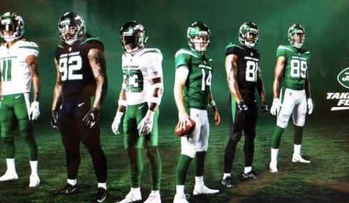 e2961fe103a The New York Jets will officially reveal their brand new logo and uniforms  at a special event this Thursday, April 4, but images of the threads have  already ...